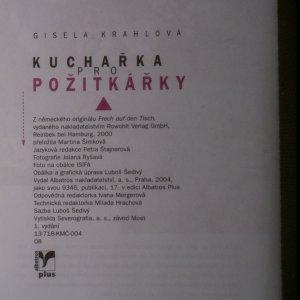 antikvární kniha Kuchařka pro požitkářky, 2004