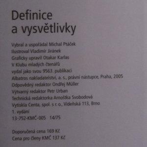 antikvární kniha Definice a vysvětlivky, 2005
