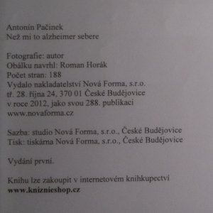 antikvární kniha Než mi to alzheimer sebere, 2012