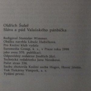 antikvární kniha Sláva a pád Valašského pánbíčka, 1998