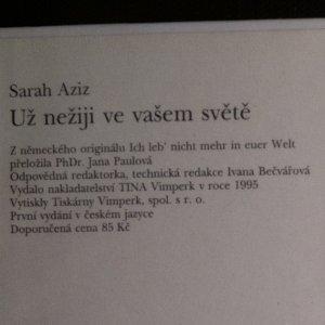 antikvární kniha Už nežiji ve vašem světě, 1995