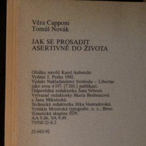 antikvární kniha Jak se prosadit. Asertivně do života, 1992