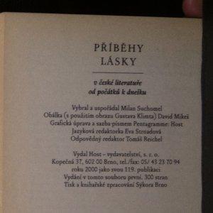 antikvární kniha Příběhy lásky v české literatuře od počátků k dnešku, 2000