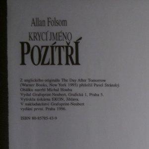 antikvární kniha Krycí jméno pozítří, 1996