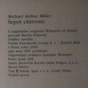 antikvární kniha Šepot chtivosti, 2000
