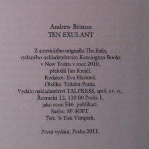 antikvární kniha Ten exulant, 2011