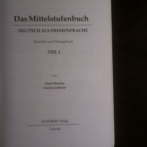 antikvární kniha Das Mittelstufenbuch - Deutsch als Fremdsprache. Ein Lehr- und Übungsbuch, Hörmaterialien mit CD (2 svazky, obsahuje CD), neuveden