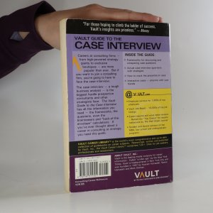 antikvární kniha Vault guide to the case interview, 2007