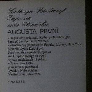 antikvární kniha Augusta První, 1994
