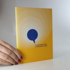 náhled knihy - Co potřebujete vědět o Lisabonské smlouvě