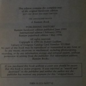 antikvární kniha The Apocalypse Watch, 1996
