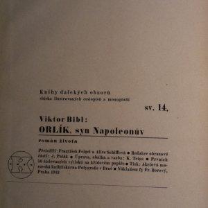 antikvární kniha Orlík, syn Napoleonův, 1933