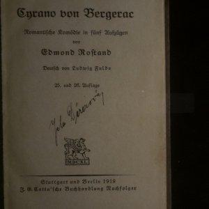 antikvární kniha Cyrano von Bergerac, 1919