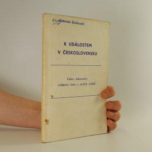 náhled knihy - K událostem v Československu