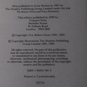 antikvární kniha The Horse and Pony Dictionary, 1990