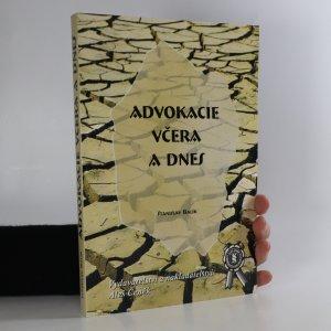 náhled knihy - Advokacie včera a dnes