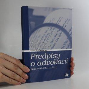 náhled knihy - Předpisy o advokacii
