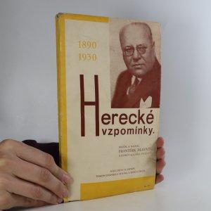 náhled knihy - Herecké vzpomínky. 1890-1930