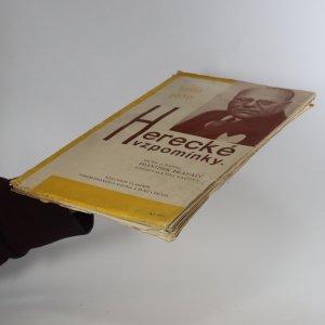 antikvární kniha Herecké vzpomínky. 1890-1930, neuveden