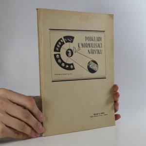 náhled knihy - Podklady k normalisaci nábytku