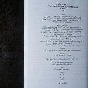 antikvární kniha Studie a zprávy. Historický sborník pražského okolí. roč. 2/2012, 2012