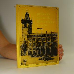 náhled knihy - Pražský sborník historický. 1969-1970