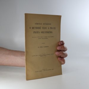 náhled knihy - Několik myšlenek o methodě vědy a praxe práva občanského