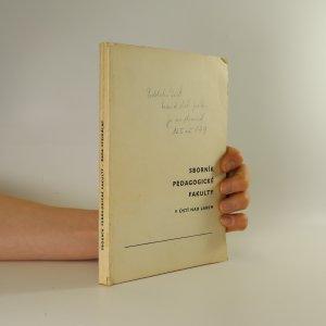 náhled knihy - Sborník pedagogické fakulty