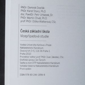antikvární kniha Česká základní škola, 2010