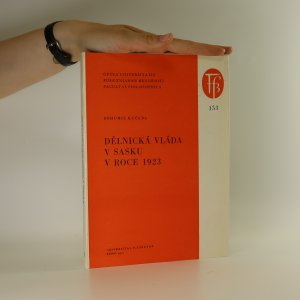 náhled knihy - Dělnická vláda v Sasku v roce 1923