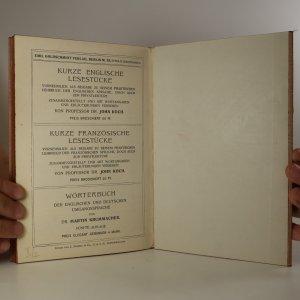 antikvární kniha Praktisches Lehrbuch zur Erlernung der Englischen Sprache, 1910