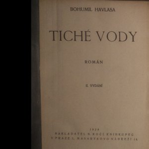 antikvární kniha Tiché vody, 1928
