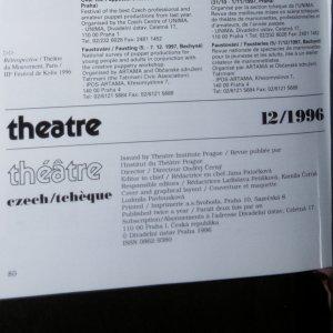 antikvární kniha Czech theatre 12/1996, neuveden