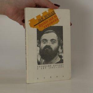 náhled knihy - Rychle než to zapomenu... Soukromé zápisky z let 1982-1985