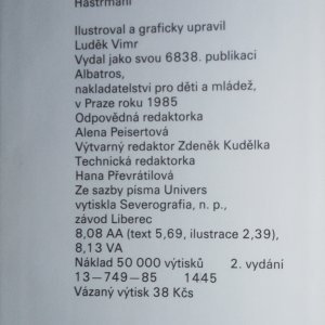 antikvární kniha Hastrmani, 1985
