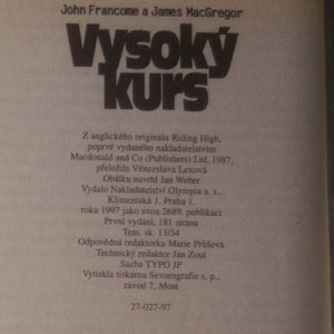 antikvární kniha 4x John Francis a James MacGregor (viz foto), 1997 - 1999