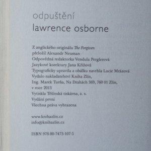 antikvární kniha Odpuštění, 2013