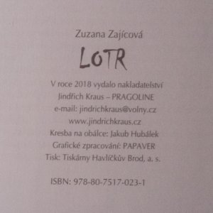 antikvární kniha Lotr, 2018