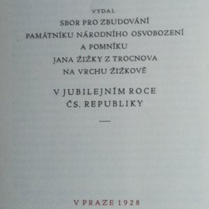 antikvární kniha Památník národního osvobození, 1928