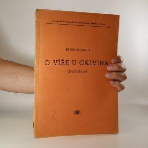 náhled knihy - O víře u Calvina