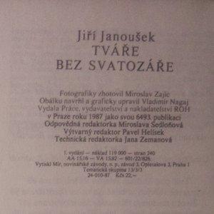 antikvární kniha Tváře bez svatozáře, 1987