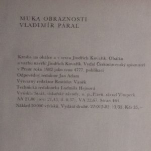 antikvární kniha Muka obraznosti, 1982