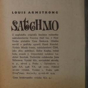 antikvární kniha Satchmo, 1968