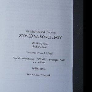 antikvární kniha Zpověď na konci cesty, 2000