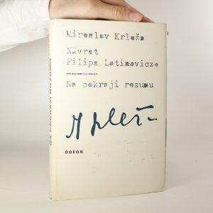 náhled knihy - Návrat Filipa Latinovicze. Na pokraji rozumu