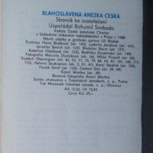 antikvární kniha Blahoslavená Anežka Česká, 1989