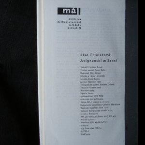 antikvární kniha Avignonskí milenci, 1963