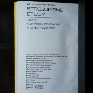 antikvární kniha Strojopisné etudy. Texty k zvýšení zdatnosti v opisu naslepo, 1987