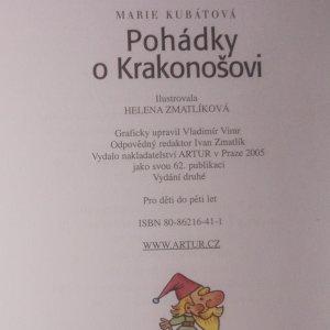 antikvární kniha Pohádky o Krakonošovi, 2005