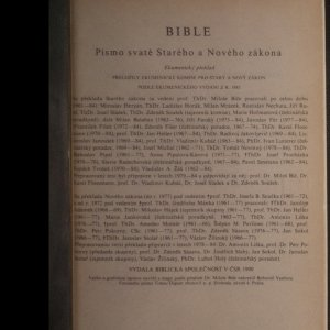 antikvární kniha Nový Zákon, 1990